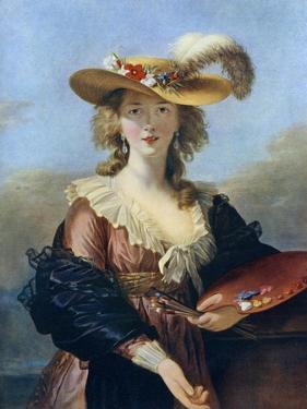 Self Portrait in a Straw Hat, C1782 by Elisabeth Louise Vigee-LeBrun