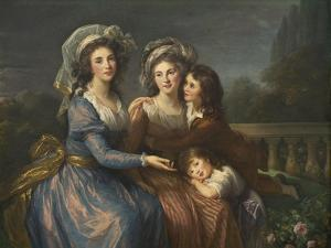 The Marquise De Pezay, and the Marquise De Rougé with Her Sons Alexis and Adrien, 1787 by Elisabeth Louise Vigee-LeBrun