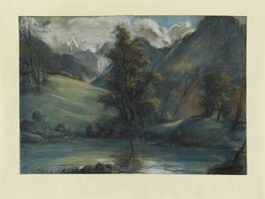 View of the Lake of Challes and Mont Blanc, 1807-1808 by Elisabeth Louise Vigee-LeBrun