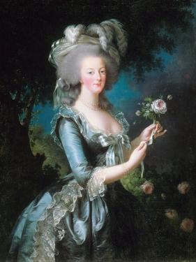 Marie-Antoinette with a Rose by Elisabeth Vigee-Lebrun