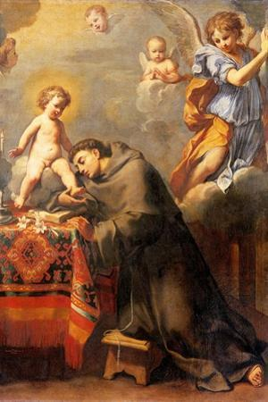 St. Anthony of Padua Adoring the Infant Christ