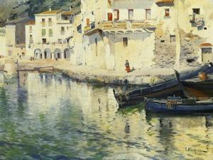 The Port of Cadaques by Eliseu Meifren i Roig