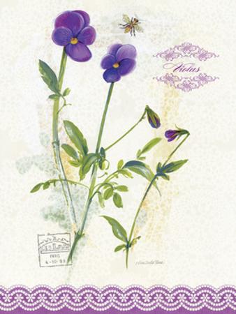 Flower Study on Lace XIV by Elissa Della-piana