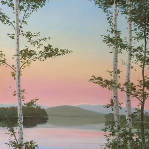 Cooper Sunset Birches by Elissa Gore