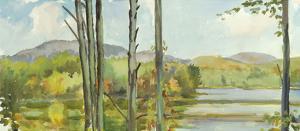 Lake Study (left) by Elissa Gore