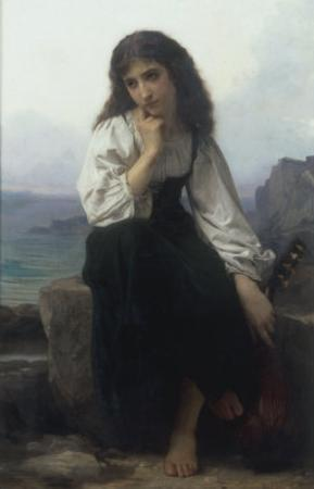 The Lute Player by Elizabeth Bouguereau