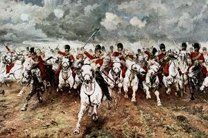 Scotland for Ever, the Charge of the Scots Greys at Waterloo, 18 June 1815 by Elizabeth Butler