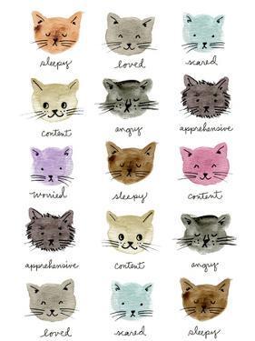 Moody Cats by Elizabeth Caldwell