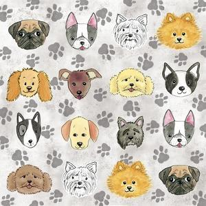 Painted Puppies by Elizabeth Caldwell