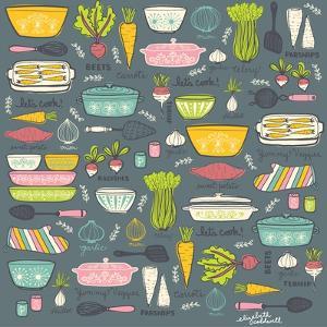 Vintage Kitchen by Elizabeth Caldwell
