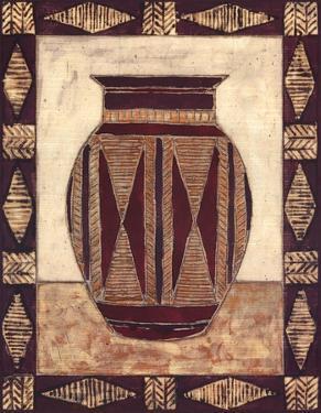 Tribal Urn I by Elizabeth David