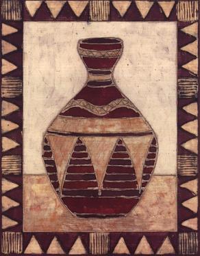 Tribal Urn IV by Elizabeth David