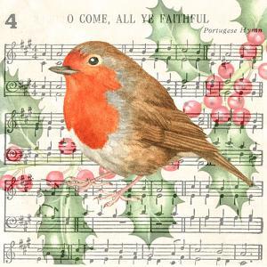 Robin Music Card 3 by Elizabeth Hellman