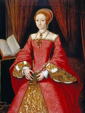 Elizabeth I as a Princess Attributed to William Scrots