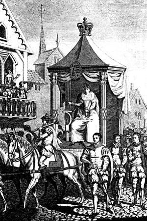 Elizabeth I on Her Way to Open the First Royal Exchange, London, 23 January 1571 (C168)