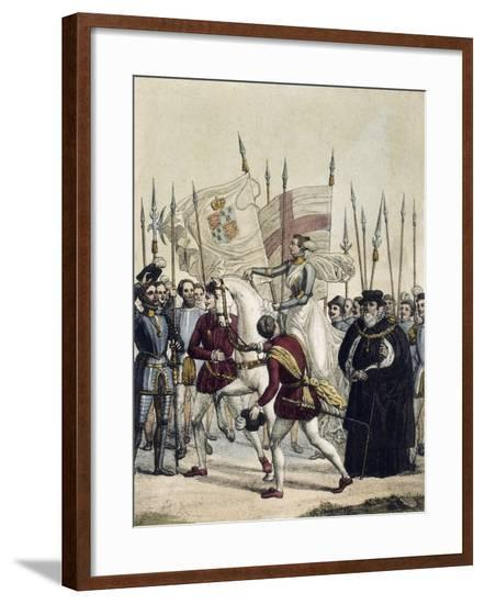 Elizabeth I, Queen of England and Ireland, in the Tilbury Camp, 1588--Framed Giclee Print