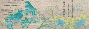 Bird Botanical Blue 2 by Elizabeth Jordan