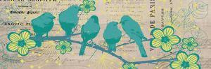 Bird Botanical Blue by Elizabeth Jordan