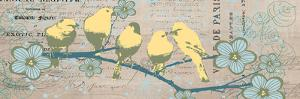 Bird Botanical Gray by Elizabeth Jordan