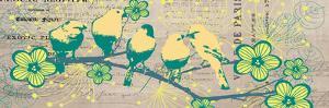 Bird Botanical Yellow by Elizabeth Jordan