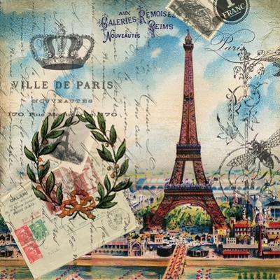 Eiffel Post Square by Elizabeth Jordan