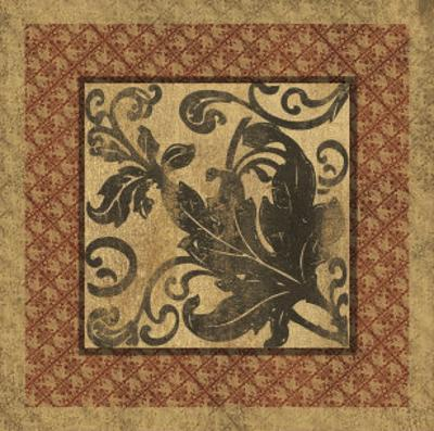 Golden Scroll III by Elizabeth Jordan