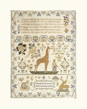 Sampler with Giraffe by Elizabeth Mastern