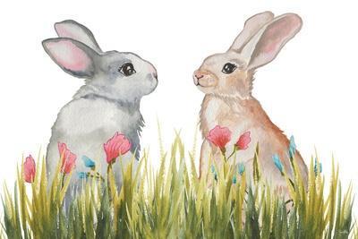Bunnies Among the Flowers II