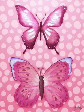 Butterfly Duo in Pink by Elizabeth Medley
