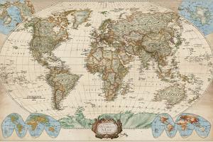 Educational World Map by Elizabeth Medley