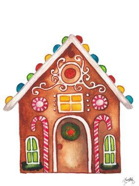 Gingerbread and Candy House I by Elizabeth Medley
