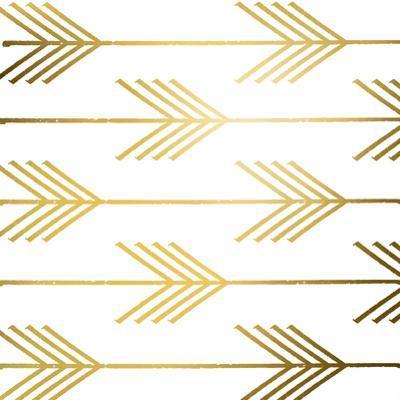 Golden Arrows I (gold foil) by Elizabeth Medley