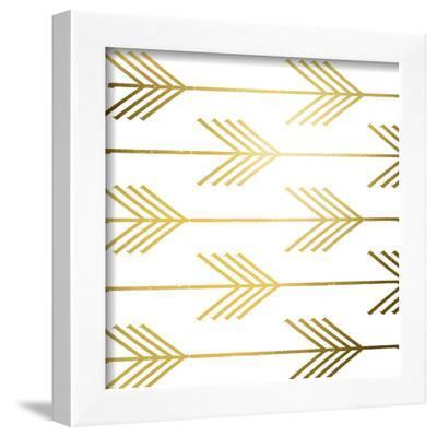 Golden Arrows I (gold foil) by Elizabeth Medley