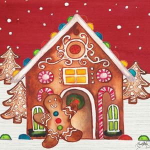 Joyful Gingerbread Village I by Elizabeth Medley