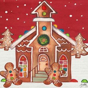 Joyful Gingerbread Village II by Elizabeth Medley