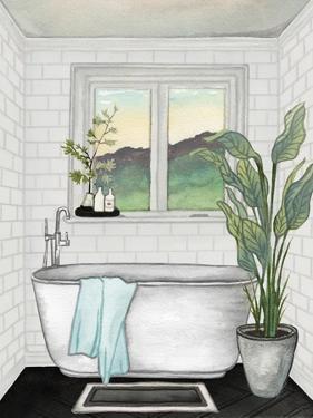 Modern Black and White Bath I by Elizabeth Medley