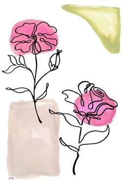 Modern Floral Line I by Elizabeth Medley