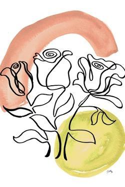 Modern Floral Line II by Elizabeth Medley