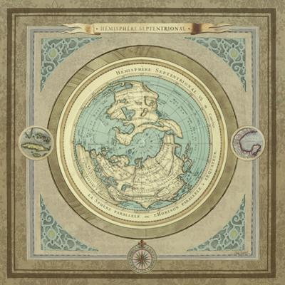 North and South Maps I by Elizabeth Medley