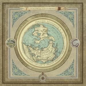 North and South Maps I by Elizabeth Medley