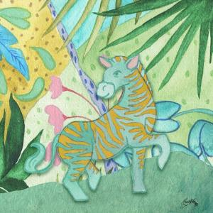 Playful Zebra by Elizabeth Medley
