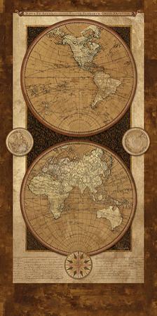 Vintage Brown Map I by Elizabeth Medley