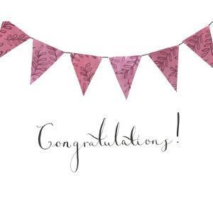 Congratulations Bunting by Elizabeth Rider