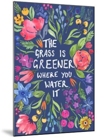 Greener Grass (Blue Background) by Elizabeth Rider
