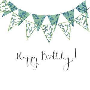 Happy Birthday Bunting by Elizabeth Rider