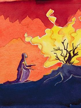 God Speaks to Moses from the Burning Bush, 2004 by Elizabeth Wang