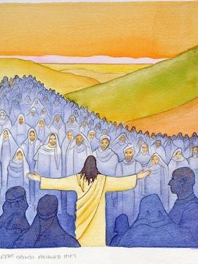 Great Crowds Followed Jesus as He Preached the Good News, 2004 by Elizabeth Wang