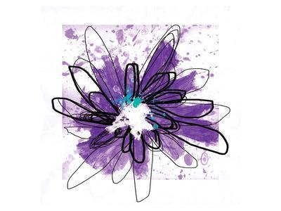 Purple Splash Flower