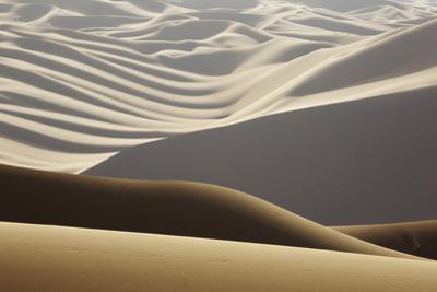 Abstract of desert shapes, Badain Jaran Desert, Inner Mongolia, China by Ellen Anon