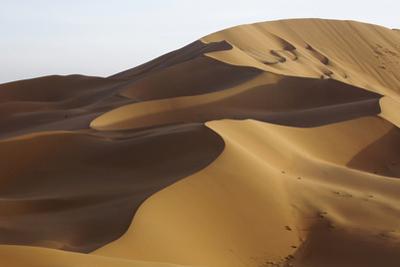 China, Inner Mongolia, Badain Jaran Desert. Desert landscape. by Ellen Anon